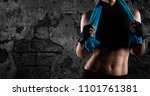 determinated girl at the gym... | Shutterstock . vector #1101761381