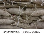 coffee sacks stored in warehouse   Shutterstock . vector #1101770039