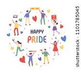 lgbt rainbow pride festival day ... | Shutterstock .eps vector #1101785045