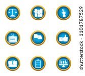 debate icons set. flat set of 9 ... | Shutterstock .eps vector #1101787529