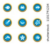 resident depth icons set. flat... | Shutterstock .eps vector #1101791234