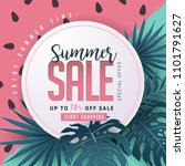 summer sale background layout... | Shutterstock .eps vector #1101791627