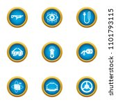 technical weapon icons set.... | Shutterstock .eps vector #1101793115