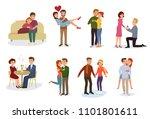 couple in love vector lovers... | Shutterstock .eps vector #1101801611