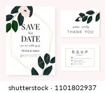 wedding invitation card with... | Shutterstock .eps vector #1101802937