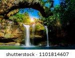 haew suwat waterfall in khao... | Shutterstock . vector #1101814607