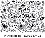 hand drawn space elements... | Shutterstock .eps vector #1101817421