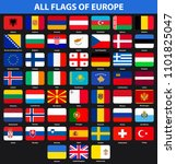 flags of all countries of... | Shutterstock . vector #1101825047