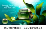 natural algae skin care product ... | Shutterstock .eps vector #1101840635