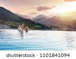 kids play in outdoor infinity... | Shutterstock . vector #1101841094