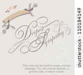 ,banner,birds,calligraphy,cards,comfort,compassion,condolence,death,deepest sympathy,elegant,empathy,fancy,fondness,greeting