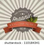 old vector round retro vintage... | Shutterstock .eps vector #110184341