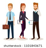 business people isometric... | Shutterstock .eps vector #1101843671