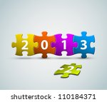 new year 2013 card made from... | Shutterstock .eps vector #110184371