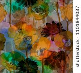 art vintage blurred colorful... | Shutterstock . vector #1101844037