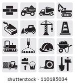 vector black construction icon... | Shutterstock .eps vector #110185034
