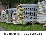 piled up h frame type... | Shutterstock . vector #1101858251