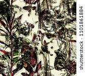 art vintage blurred monochrome... | Shutterstock . vector #1101861884