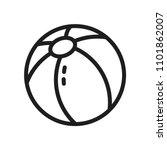 beach ball icon. vector thin... | Shutterstock .eps vector #1101862007