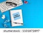 hello summer   inscription at... | Shutterstock . vector #1101872897