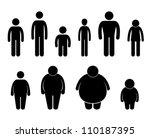 man body figure size icon... | Shutterstock .eps vector #110187395