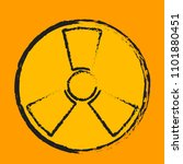 nuclear symbol. radioactive... | Shutterstock .eps vector #1101880451
