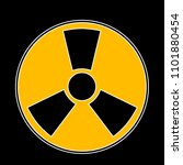 nuclear symbol. radioactive... | Shutterstock .eps vector #1101880454