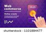 crypto online commerce. mining... | Shutterstock .eps vector #1101884477