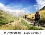 the tour du mont blanc is a... | Shutterstock . vector #1101884834