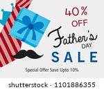 happy father's day vector... | Shutterstock .eps vector #1101886355