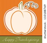 hand drawn pumpkin thanksgiving ... | Shutterstock .eps vector #110188769