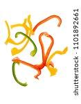 sliced paprika | Shutterstock . vector #1101892661