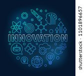 innovation vector round blue... | Shutterstock .eps vector #1101896657