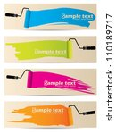 banner set of four with... | Shutterstock .eps vector #110189717