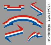 flag of dutch. flat ribbons set.... | Shutterstock .eps vector #1101899714