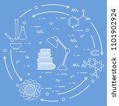 scientific  education elements. ... | Shutterstock .eps vector #1101902924