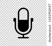 simple microphone icon. on...