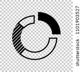 business pie chart icon. on...