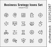 thin line icons set of business ... | Shutterstock .eps vector #1101911087
