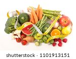 fruit and vegetable  healthy... | Shutterstock . vector #1101913151