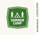 summer camp logo design   Shutterstock . vector #1101913394
