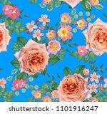 floral seamless pattern. flower ... | Shutterstock . vector #1101916247
