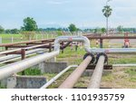 crude oil pipeline | Shutterstock . vector #1101935759