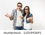 young irritated dissatisfied... | Shutterstock . vector #1101943691