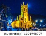 shimla  himachal pradesh  ... | Shutterstock . vector #1101948707