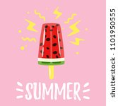 vector cartoon style summer... | Shutterstock .eps vector #1101950555