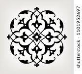 circular pattern in arabesque...   Shutterstock .eps vector #1101952697