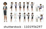 african businesswoman   vector... | Shutterstock .eps vector #1101956297