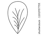 leaf single decorative icon | Shutterstock .eps vector #1101957755