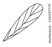 leaf single decorative icon | Shutterstock .eps vector #1101957779